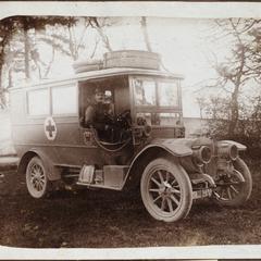 Vali als Kraftfahrer. 1914