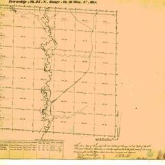 [Public Land Survey System map: Wisconsin Township 25 North, Range 16 West]