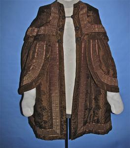 Brown silk cape