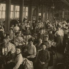 Cooper Underwear factory employees at work