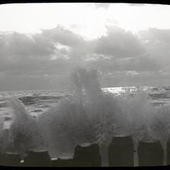 Breaking of the storm, Lake Michigan