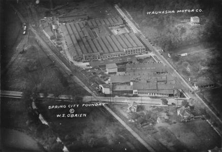 Spring City Foundry, Waukesha, aerial