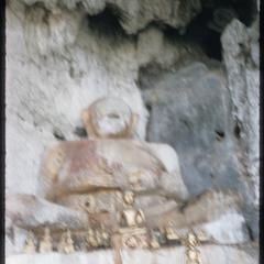 Stone Buddha on summit
