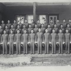 Cadets standing in uniform, Philippine Military Academy, Baguio