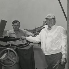MacWhyte employee aboard a U. S. Naval ship