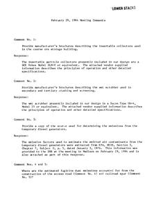 February 29, 1984 meeting comments : [Crandon Project]