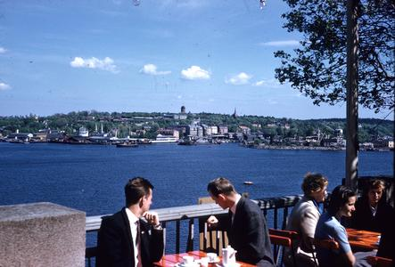Dining over the harbor