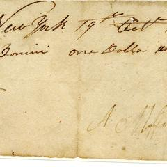 Receipted bill from A.C. Moffet to John Dominy, 1815