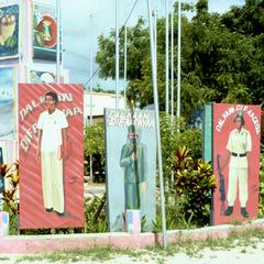 More Series of Political Signs with Portraits of Fighters and Workers