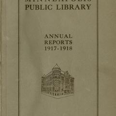 Annual report of the Minneapolis Public Library