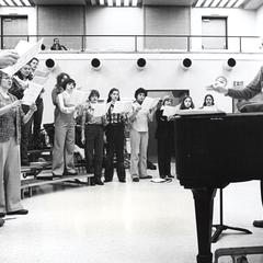 Robert Fountain with choral group