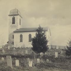 White stone church, New Glarus, Wisconsin