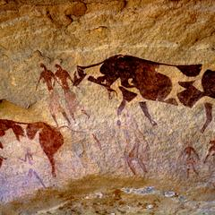 Petroglyph : Cattle with Human Figures