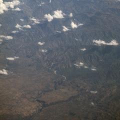 Aerial view, west end of Sierra de los Cuchumatanes and San Antonio Huista?