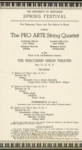 Pro Arte Quartet performance program