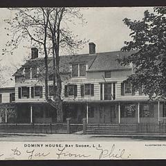 """Postcard, """"Dominy House, Bay Shore, L.I."""""""