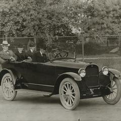 Charles Nash at the wheel of a Nash automobile