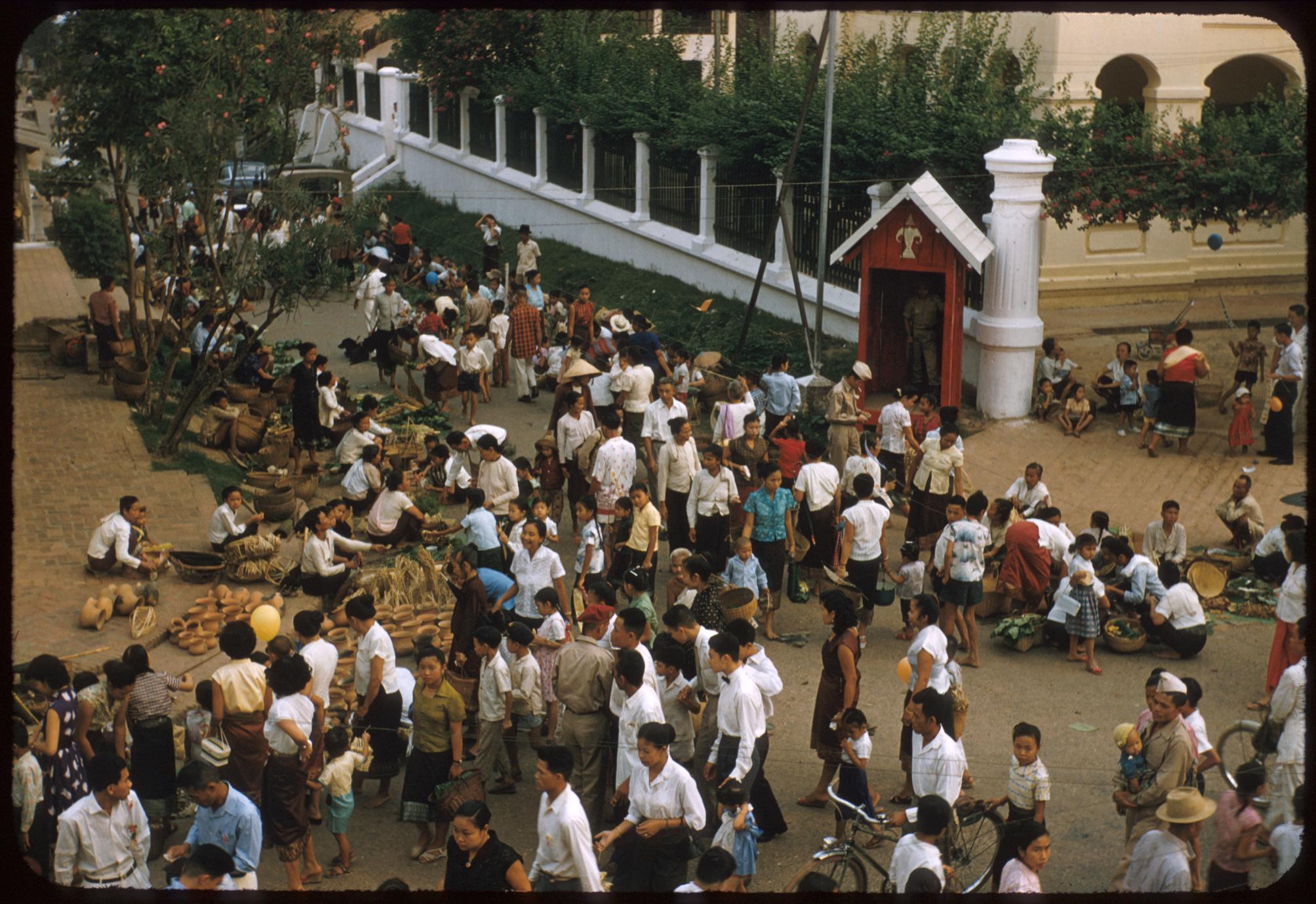 Lao New Year--street market