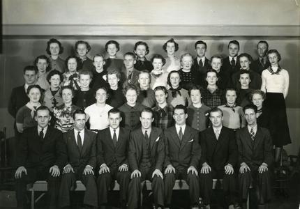 Stoutonia student newspaper staff photograph