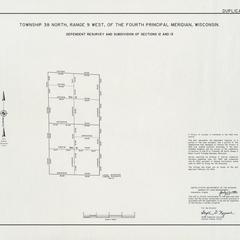 [Public Land Survey System map: Wisconsin Township 38 North, Range 09 West]