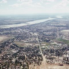 Aerial view of Vientiane