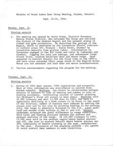 [Notes from the Great Lakes Deer Group Annual Meeting, 1964]