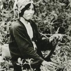 Akha woman in the village of Phate in Houa Khong Province