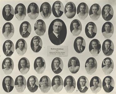 1921 Swiss Reformed Church confirmation class