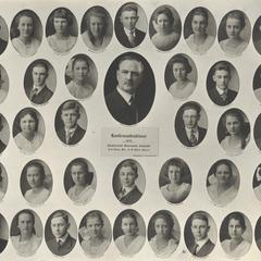 1921 Swiss Reformed Church confirmation class