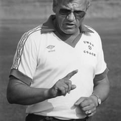 Men's soccer coach, Aldo Santaga
