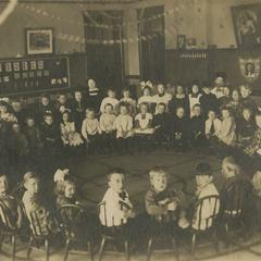 Classroom of children with their teachers