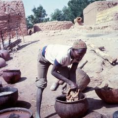 Leather Worker Curing Hides in Zinder Region