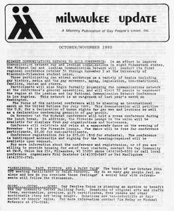 Milwaukee Update : October/November 1980