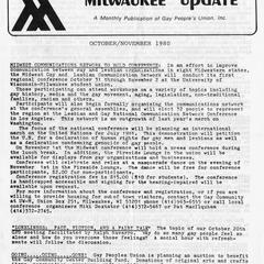 Milwaukee Update : October/November 1980