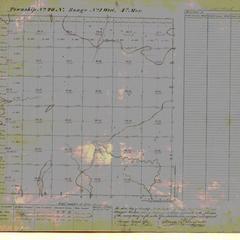 [Public Land Survey System map: Wisconsin Township 20 North, Range 01 West]