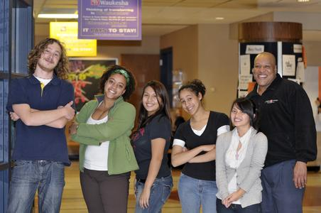 UW-Waukesha Diversity Center staff and students