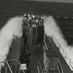 MacWhyte employees aboard a U. S. Naval ship
