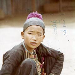A Blue Hmong boy in northern Thailand