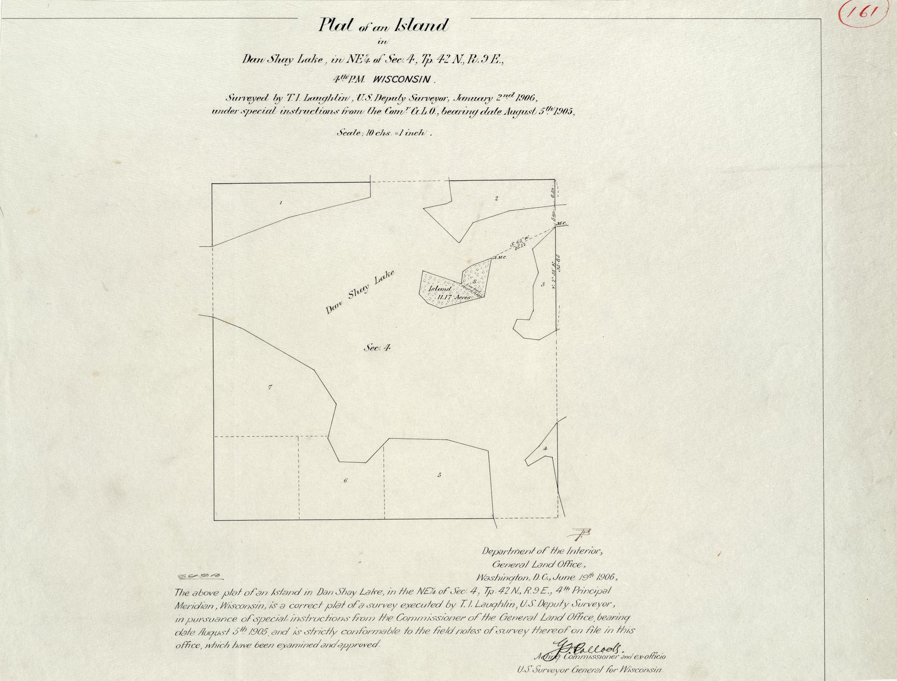 [Public Land Survey System map: Wisconsin Township 42 North, Range 09 East]
