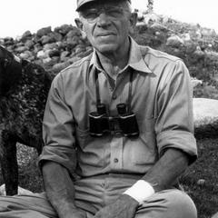 Aldo Leopold with binoculars
