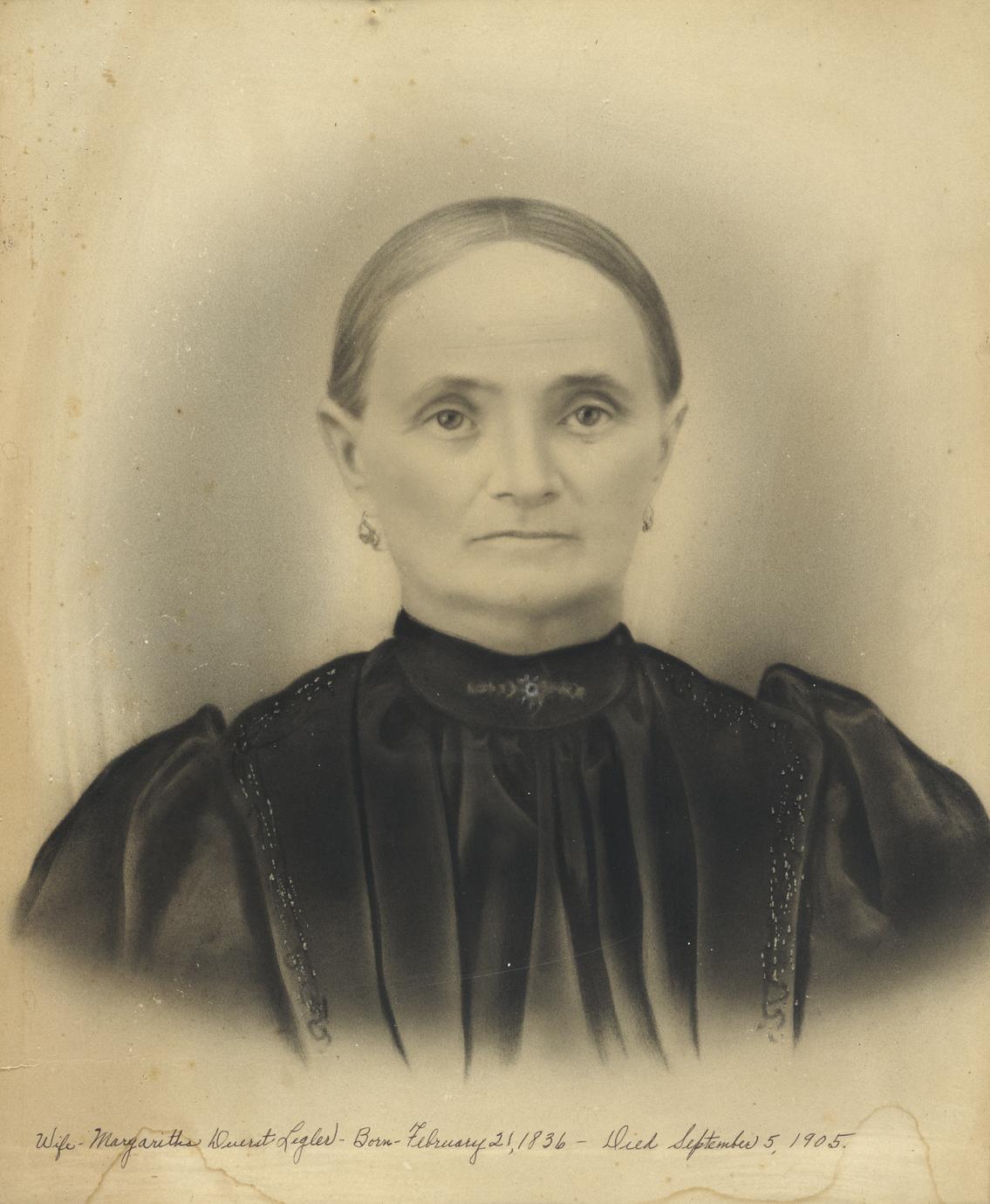 Portrait of Margaretha Duerst Legler