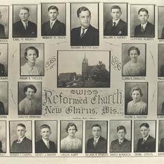 1936 Swiss Reformed Church confirmation class