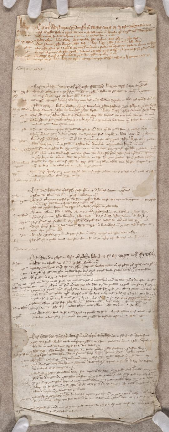 [Wilburton hundred court roll] (1 of 2)