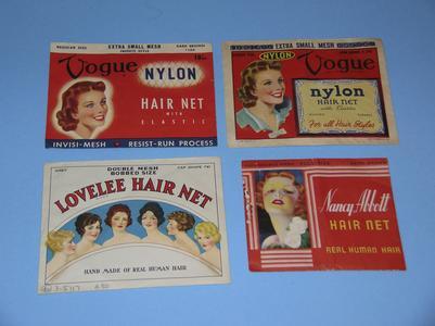Human hair and nylon hairnets