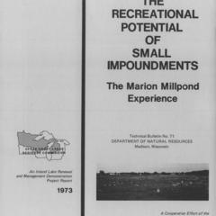 Restoring the recreational potential of small impoundments : the Marion Millpond experience