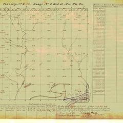 [Public Land Survey System map: Wisconsin Township 09 North, Range 02 West]