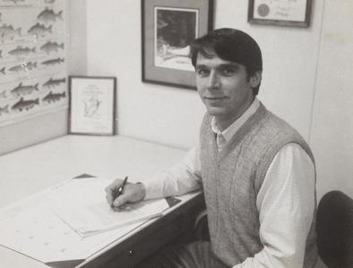 Mike Dombeck in his Washington office