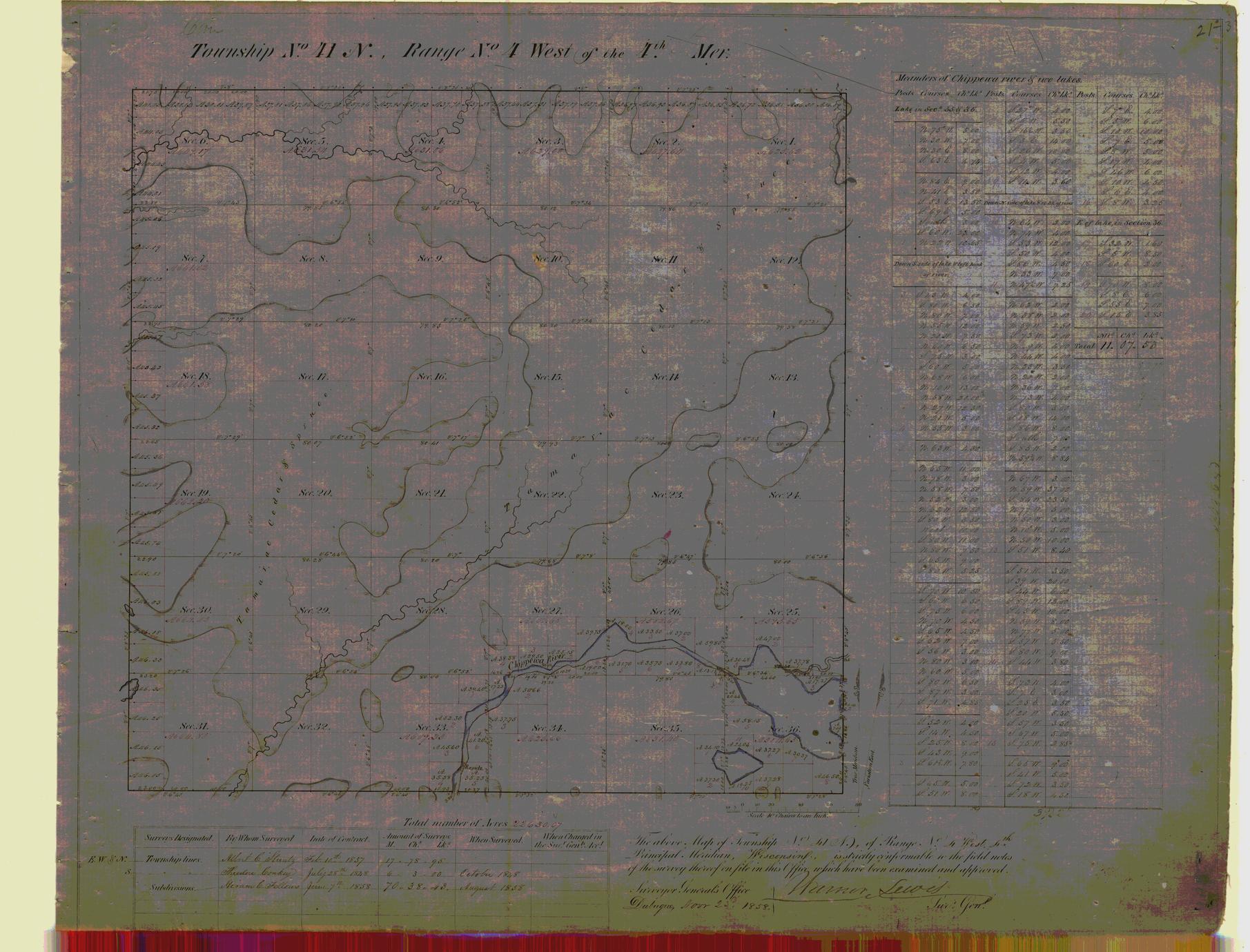 [Public Land Survey System map: Wisconsin Township 41 North, Range 04 West]