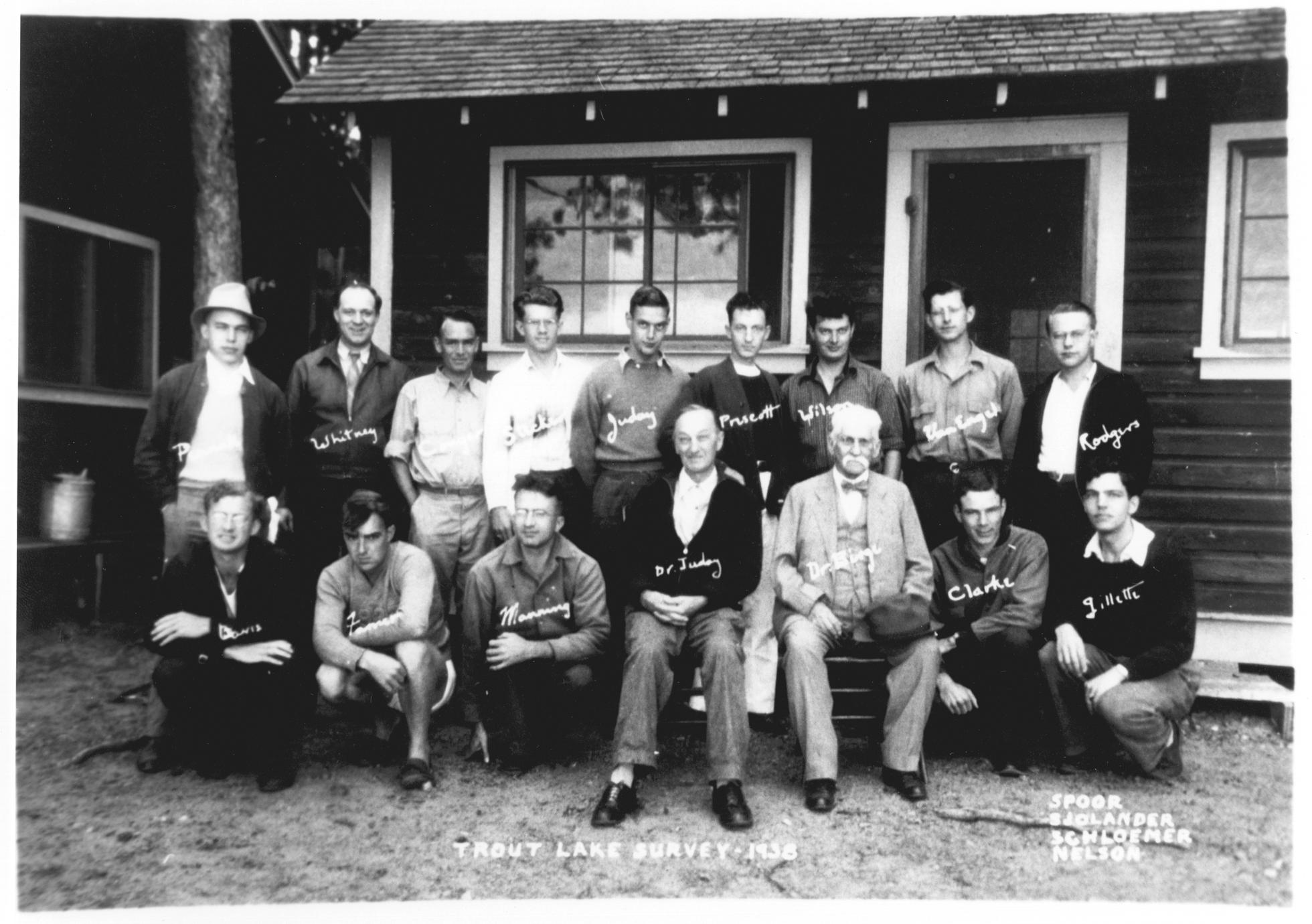 Trout Lake survey crew 1938