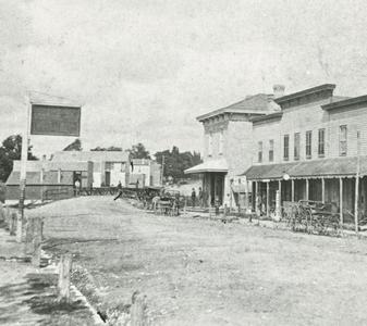 Main Street west to wooden bridge